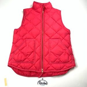 J.Crew Womens Pink Quilted Puffer Down Vest E